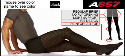 Ribbed Light Support Tights - 1