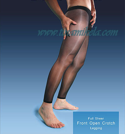 UNISEX Sheer To Waist Open Crotch Leggings