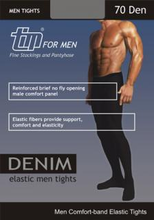 Denim 70 Den - Opaque Men Tights with Comfort band