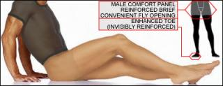 Comfilon Light Support Pantyhose with Fly Opening