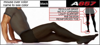 Ribbed Light Support Tights
