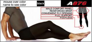 Full Support Footless Tights with Fly
