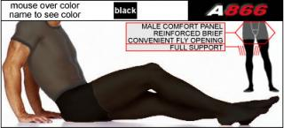 Full Support Footed Tights with Fly